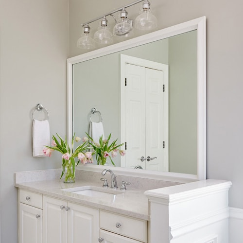 The Clean and Simple, Bathroom Mirror Frame Design