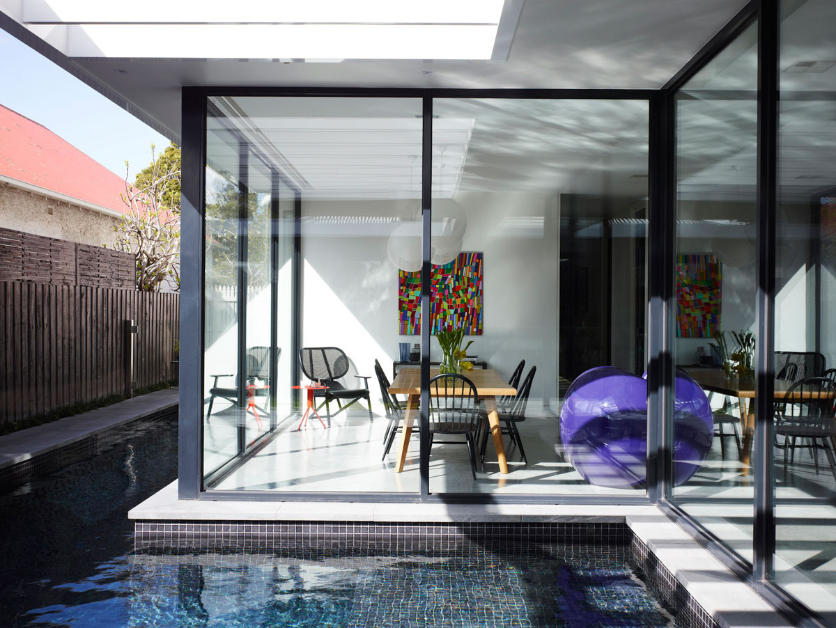 Floor to Ceiling Windows by The Swimming Pool