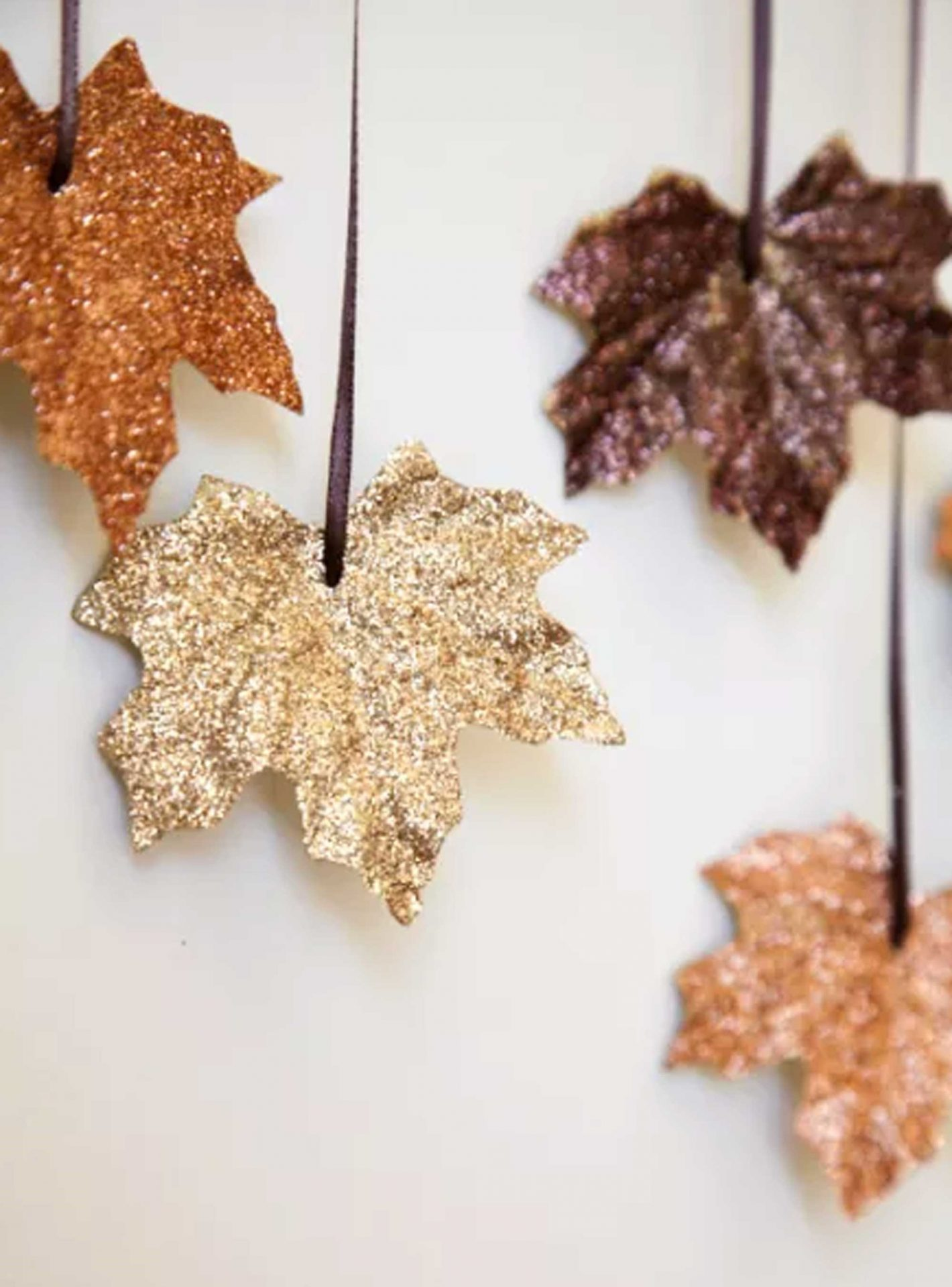 Glittered Leaves for Fall