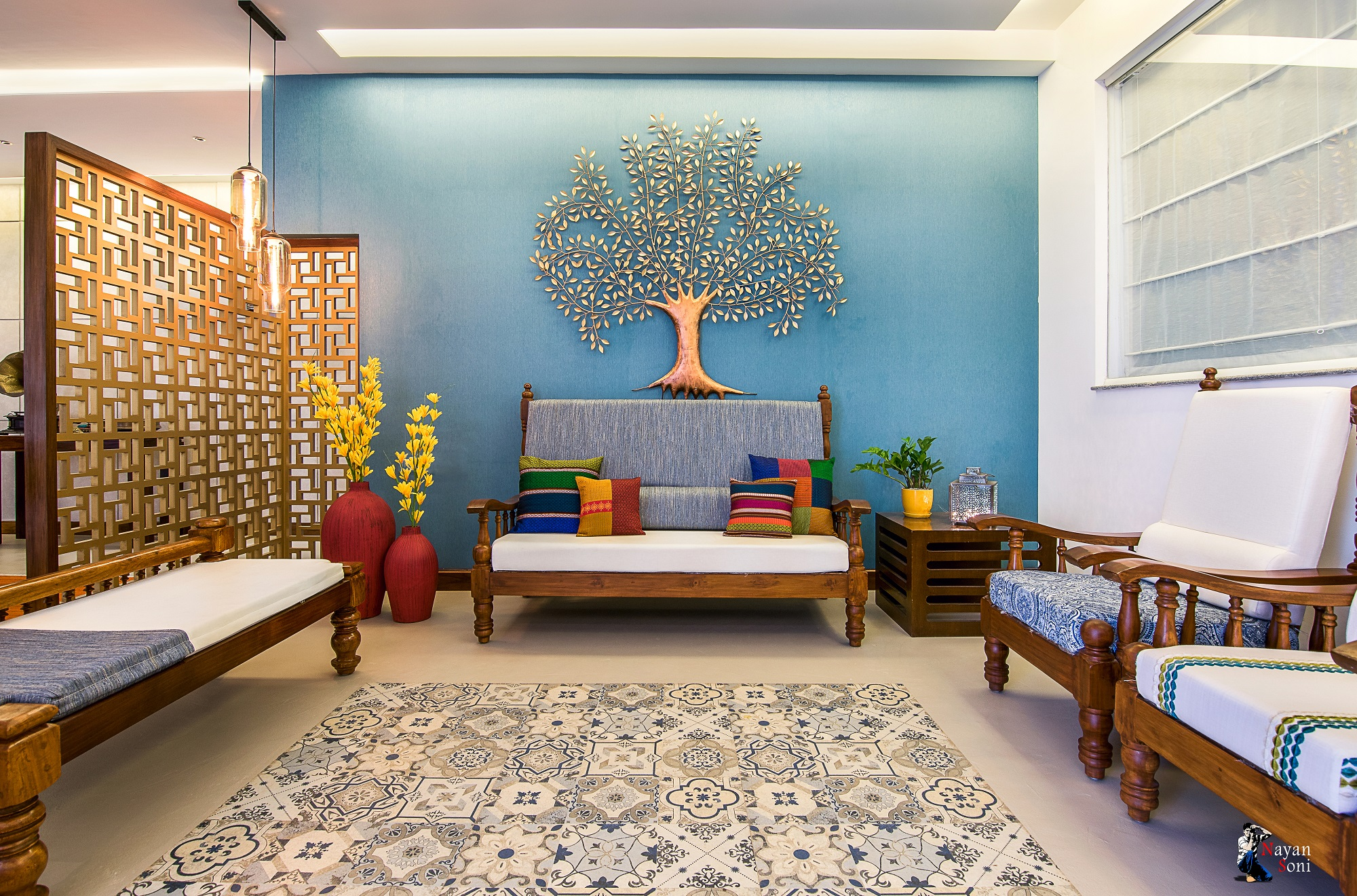 Enrich Your House with These Living Room Indian Style ...